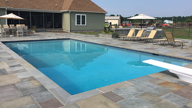 custom swimming pool design in lewes delaware carter. Black Bedroom Furniture Sets. Home Design Ideas